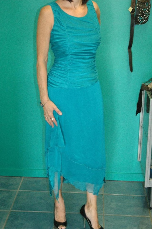 c2c701ef2d3  MR K  sheer strap satin band dress - Jade. Dress Worn once as Bridesmaid  Dress Size 20  150.00 RRP  299.80. Picture.  Designer  Formal   Bridesmaid  Dress.